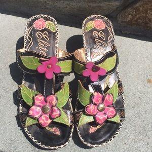 Elite by Corey's Women's Size 8 Leather Sandals